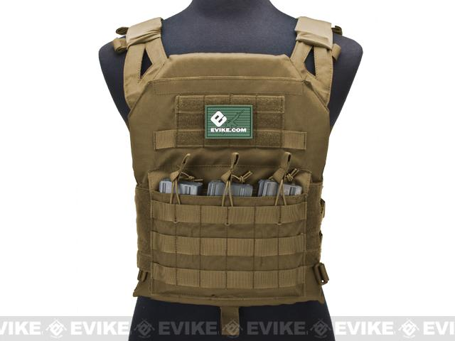 Avengers Compact Operator Airsoft High Speed JPC Plate Carrier - Coyote Brown (X-Large)