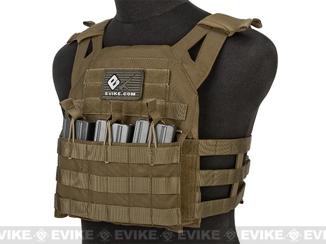 Avengers Compact Airsoft High Speed JPC Plate Carrier (Color: Coyote Brown / Kids Size)