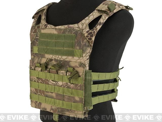 Matrix Compact Airsoft High Speed JPC Plate Carrier (Color: Woodland Serpent / Kids Size)