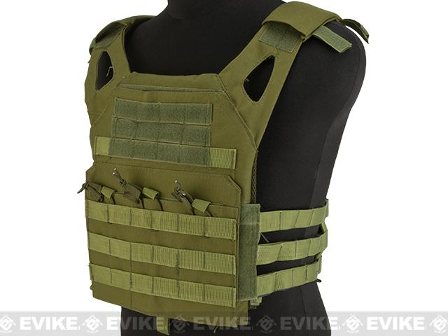 Matrix Compact Airsoft High Speed JPC Plate Carrier (Color: OD Green / Kids Size)