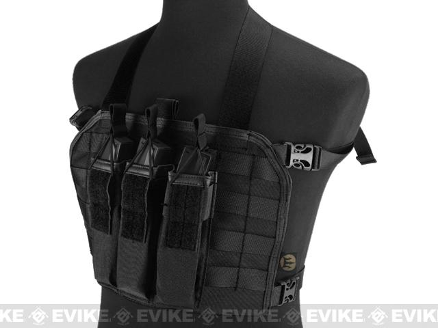 High Speed Operator Chest Rig w/ SMG Mag Pouch - Black
