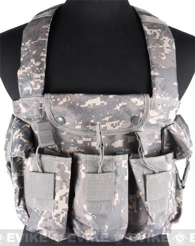 NcStar Tactical 6 Pouch AK Chest Rig - ACU