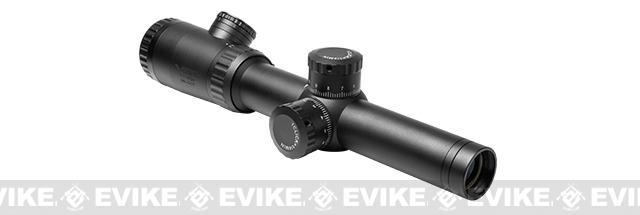 z NcSTAR / VISM Evolution 1.1-4X20 Blue & Green Illuminated Rifle Scope - Mil-Dot Reticle