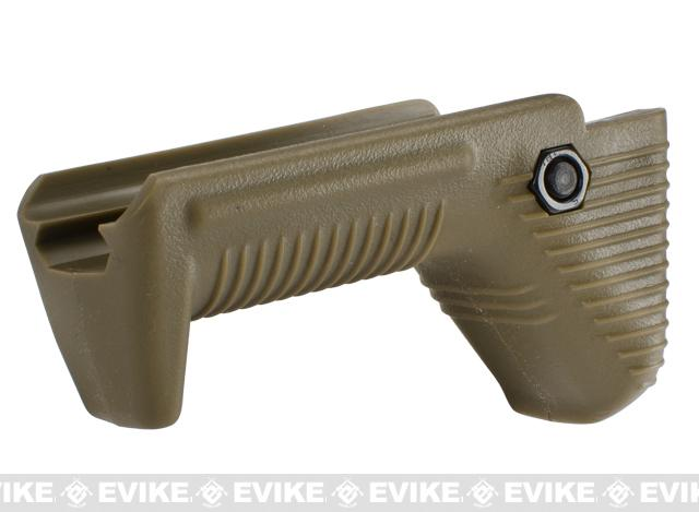 APS Dynamic Hand Stop Polymer Angled Airsoft Foregrip (Color: Dark Earth)
