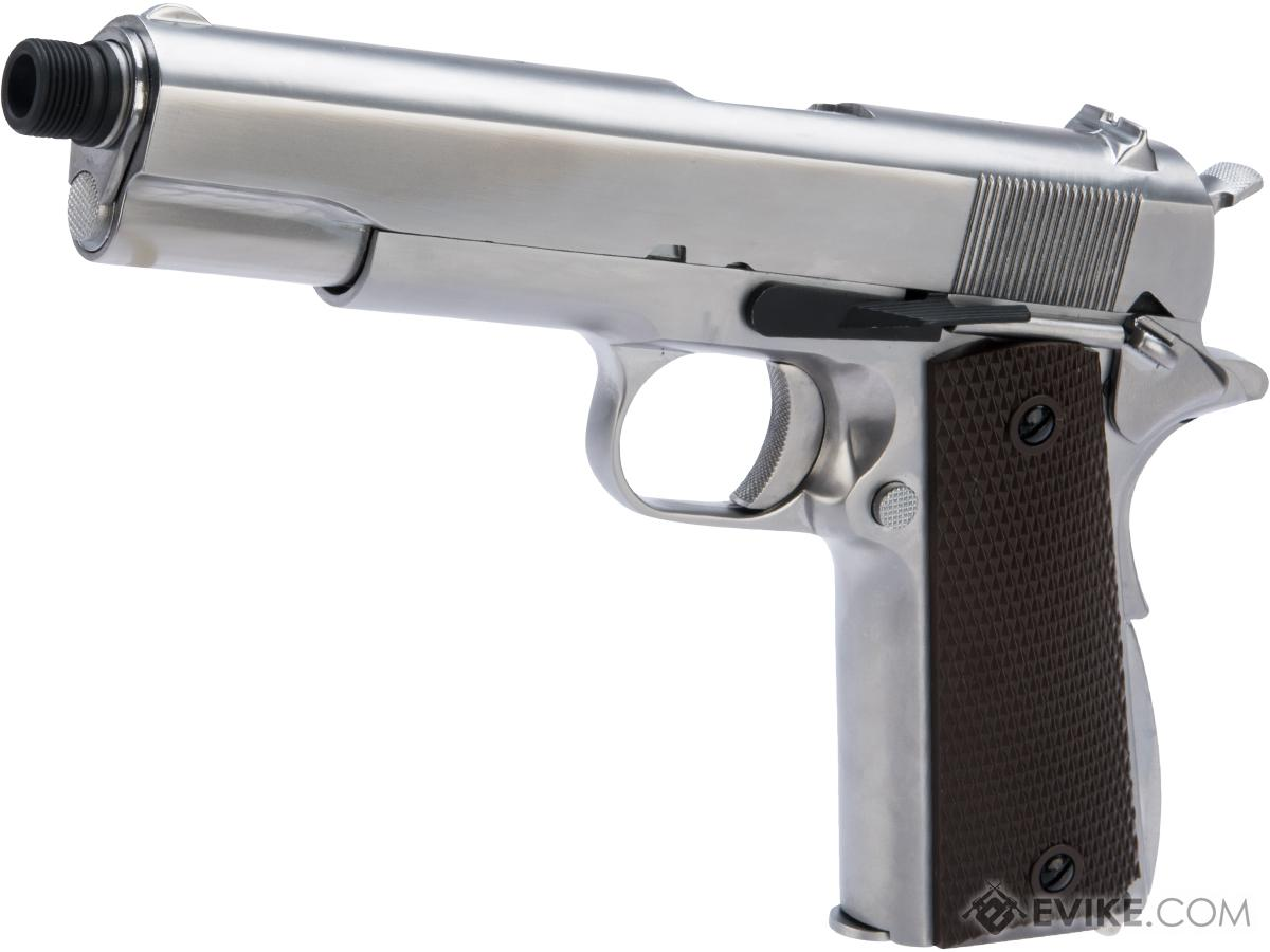 WE-Tech Latest Gen2 Full Metal 1911 GI Full Size Airsoft GBB Pistol (Color: Silver / Gas)
