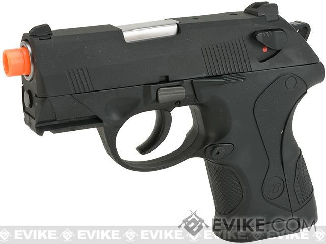 Bulldog Compact Airsoft Gas Blowback GBB Pistol by WE (Color: Black)