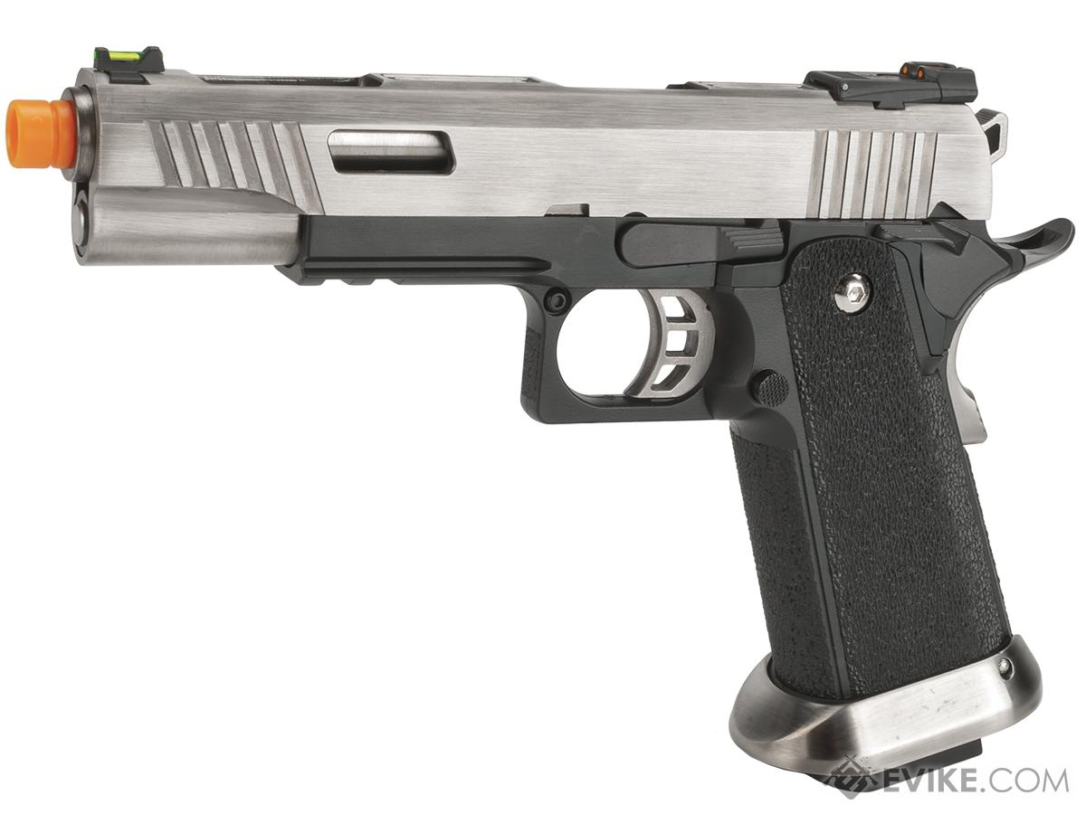 WE-Tech Hi-Capa 5.1 T-Rex Competition Pistol (Color: Silver)