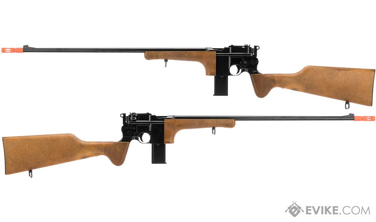 WE-Tech Full Metal WE712 Full Size Gas Blowback Airsoft Carbine with  Imitation Wood Stock