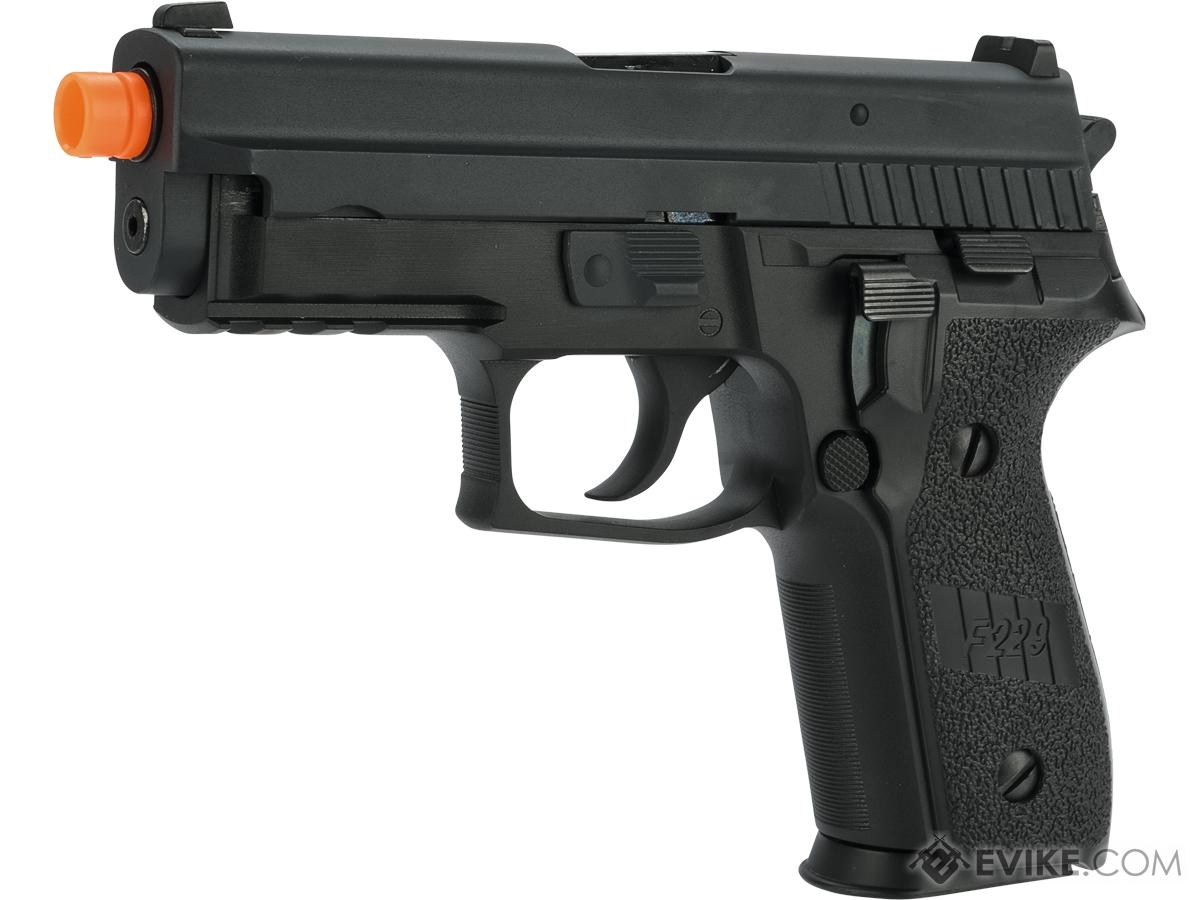 Swiss Arms Licensed 229 Airsoft Gas Blowback GBB Pistol (Version: Railed)