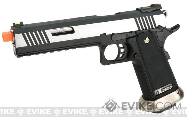 WE-Tech Hi-Capa 6 Competition Pistol (Color: Two Tone / Silver Barrel)