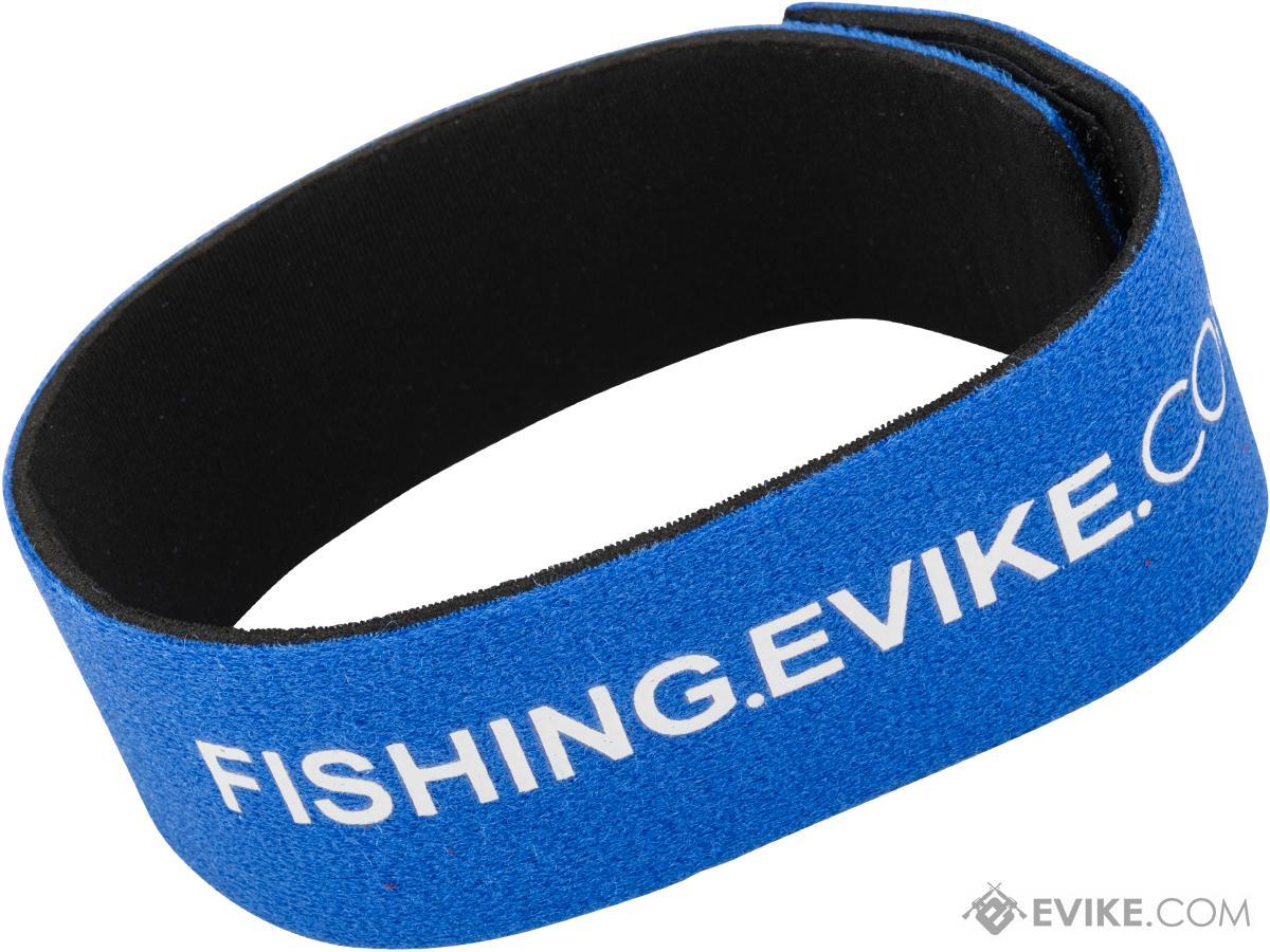 FISHING.EVIKE.COM Snake Skin Multi-Rod Hook & Loop Fishing Rod Strap