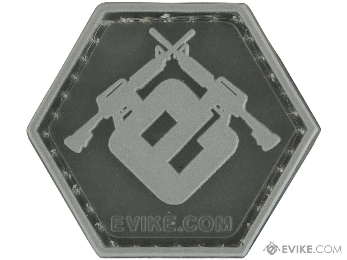 Operator Profile PVC Hex Patch Evike Series 3 (Style: Evike E Clear / Silver)