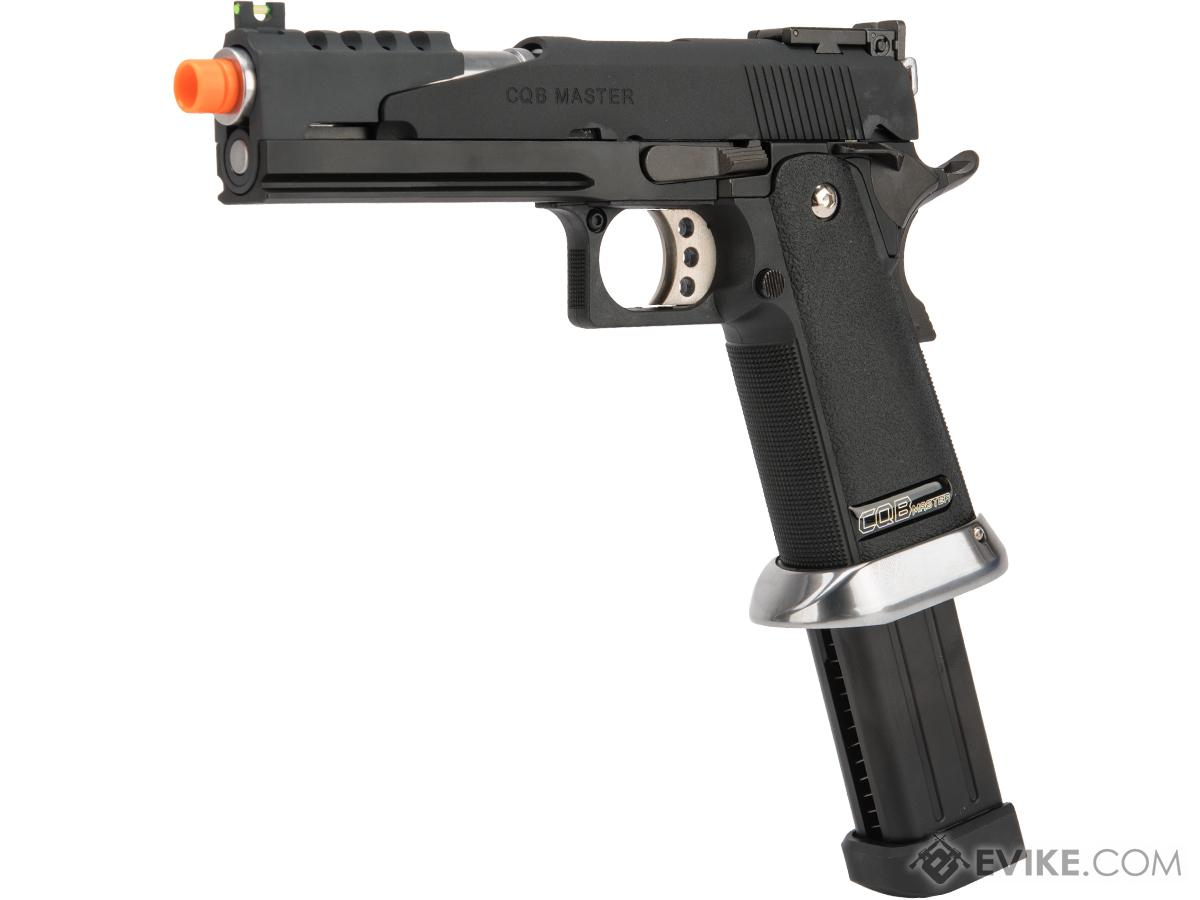 WE-Tech Competition Series Hi-CAPA Gas Blowback Pistol (Model: Super Alpha / Black / Standard Grip)