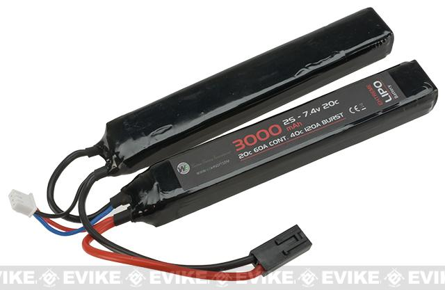 WE-Tech 7.4V 20C 3000mAh LiPo Battery - Butterfly Type