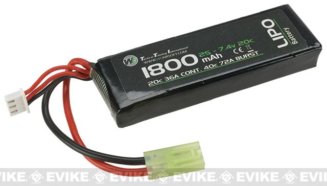 WE-Tech 7.4V 20C 1800mAh Li-Ion Battery - Brick Type