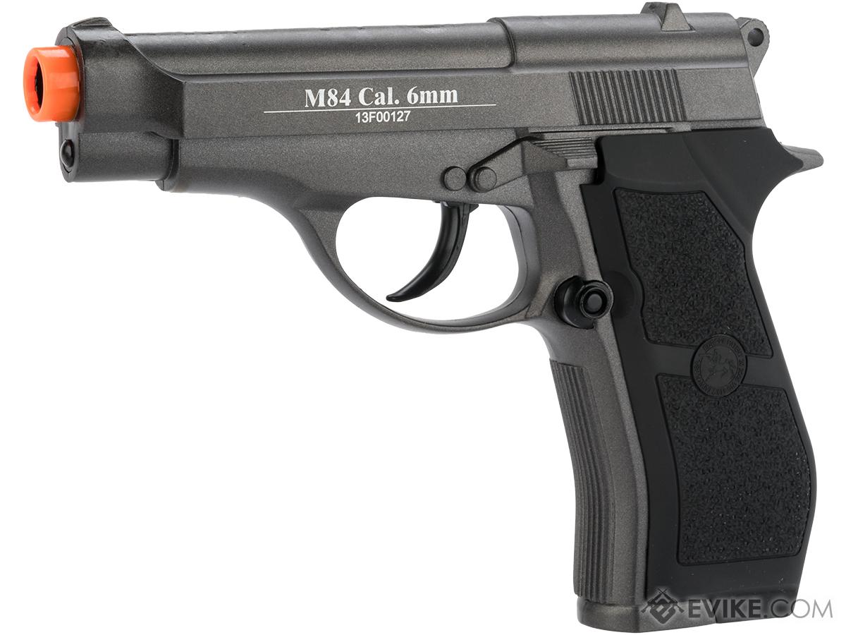 WG Full Metal M84 Compact Airsoft Co2 Powered Airsoft Gas Pistol (Color: Black)