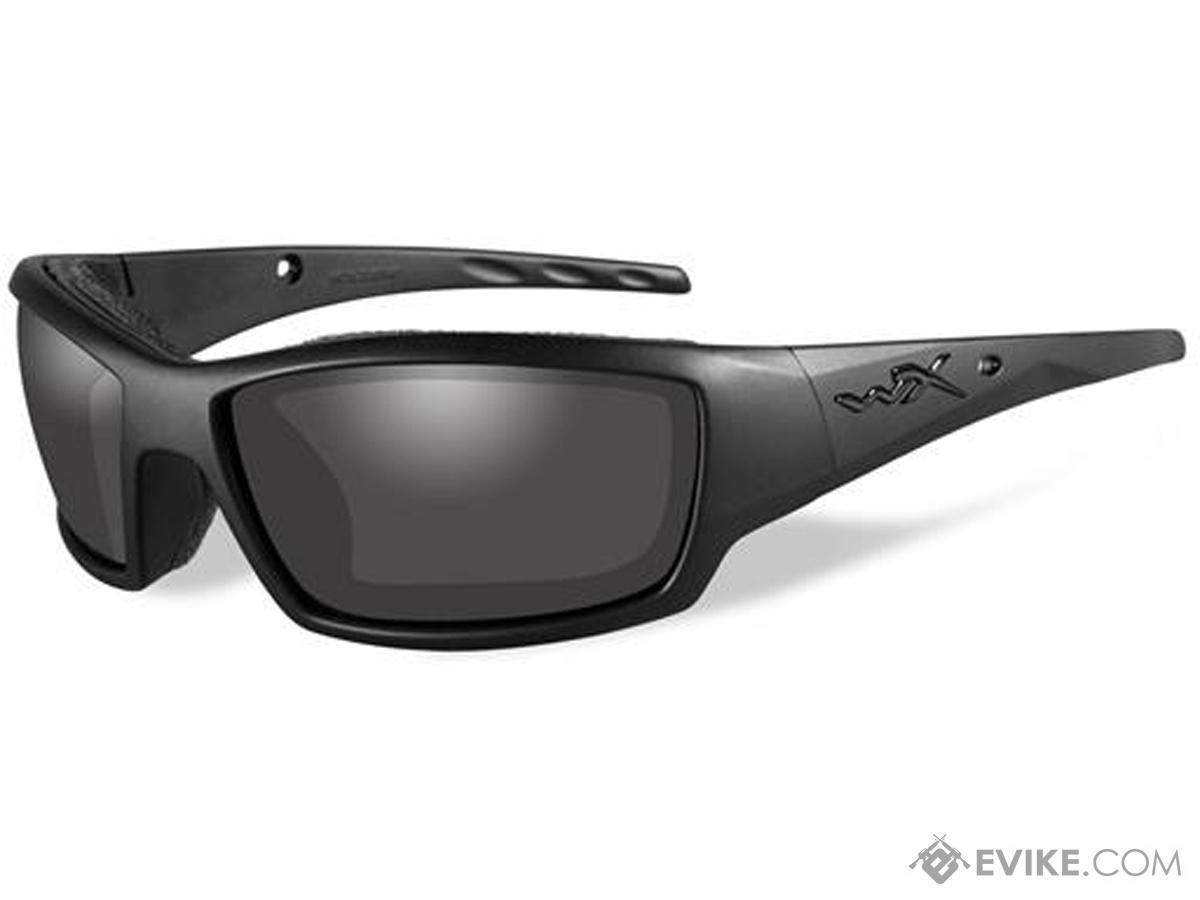 Wiley X Black Ops Sunglasses (Color: Matte Black Frame w/ Smoke Grey Lens)