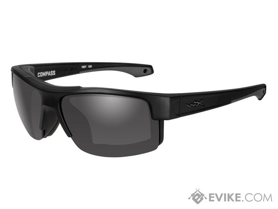 Wiley X Compass Sunglasses (Color: Smoke Grey Lens / Matte Black Frame)