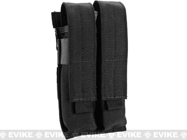 Matrix Airsoft SMG Double Magazine MOLLE Pouch (Color: Black)