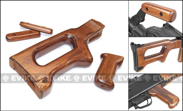 Matrix High Grade Real Wood Furniture Set for Echo1 HMG A&K PKM SAW Series Airsoft AEG