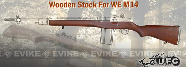 UFC Integrated Real Wood Stock for WE M14 Airsoft Gas Blowback Rifle