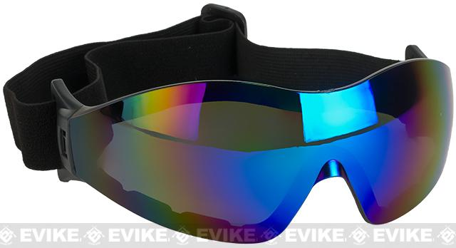 Global Vision Z-33 ANSI Z87.1 Rated Anti-Fog Safety Shooting Goggle - Blue Mirrored Lens