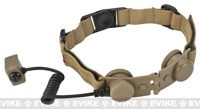 Element Z-Tactical Throat Mic Adapter (for Z029 Headset) (Color: Tan)