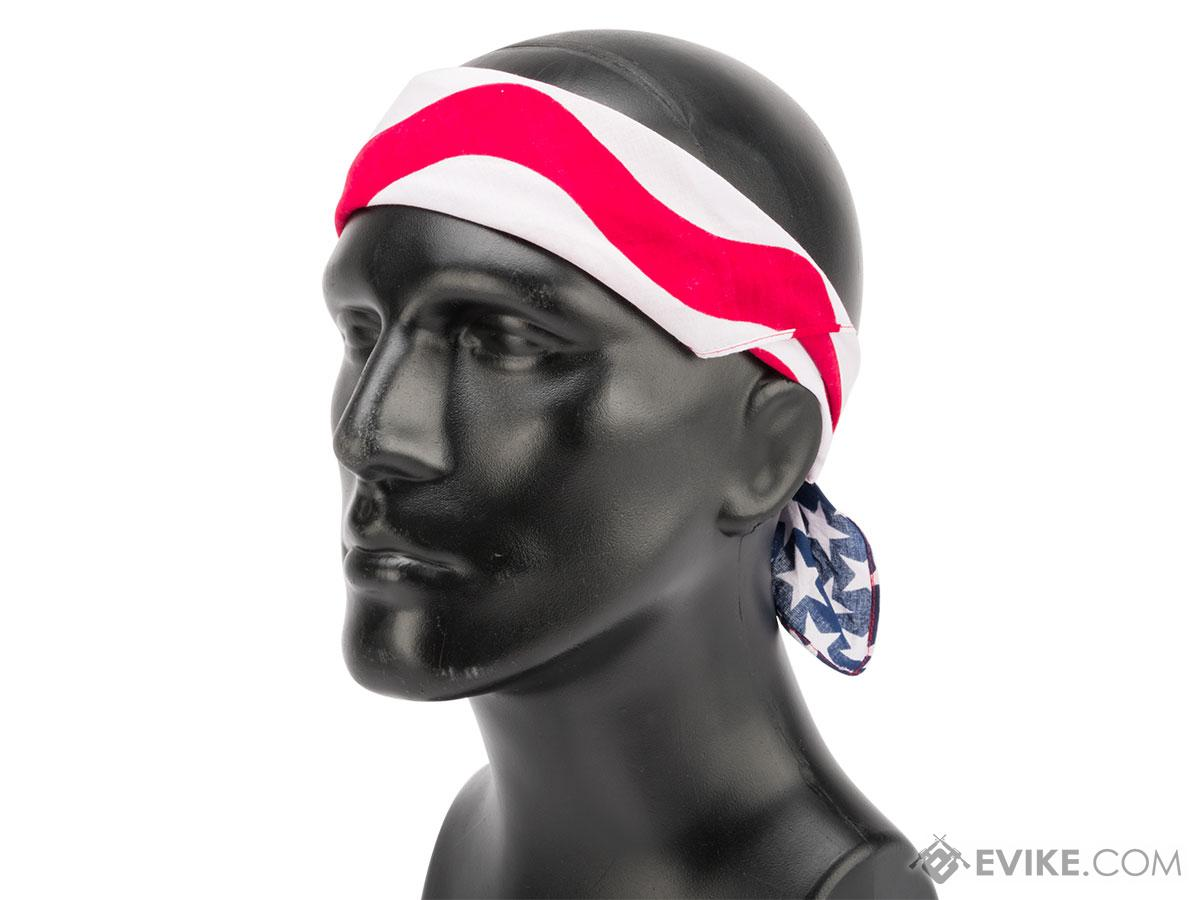 Zan Headgear 100% Cotton Bandana (Color: American Flag)