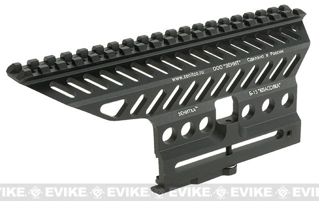 Zenimei CNC Aluminum B-13 Side Rail Mount Base for AK Series AEG / GBB Rifles - Black