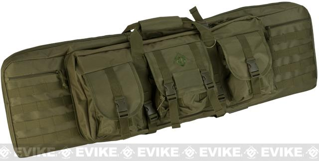 Combat Featured 42 Ultimate Dual Weapon Case Rifle Bag (Color: OD Green)