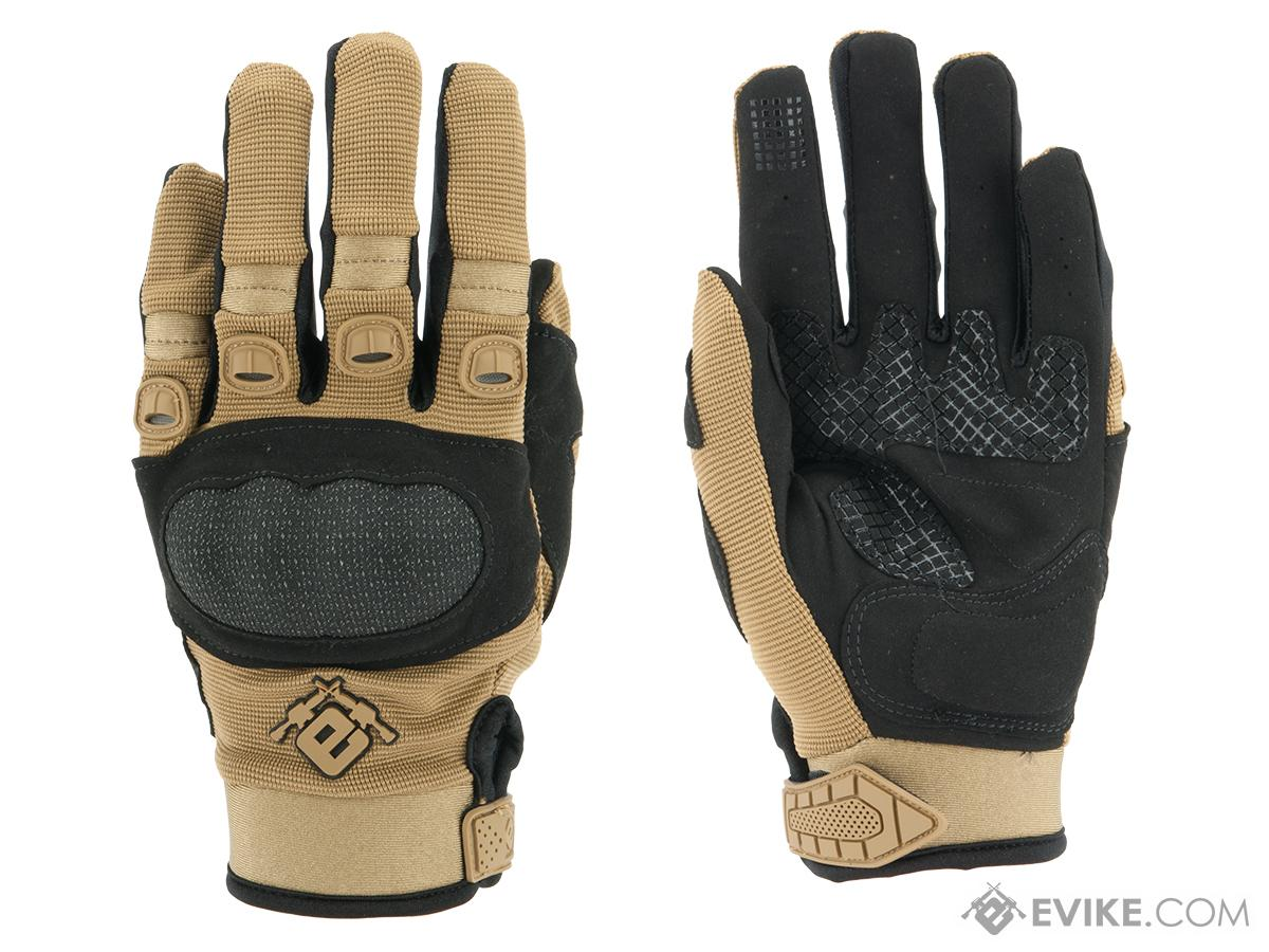 Evike.com Field Operator Full Finger Tactical Shooting Gloves - Tan (Size: X-Large)