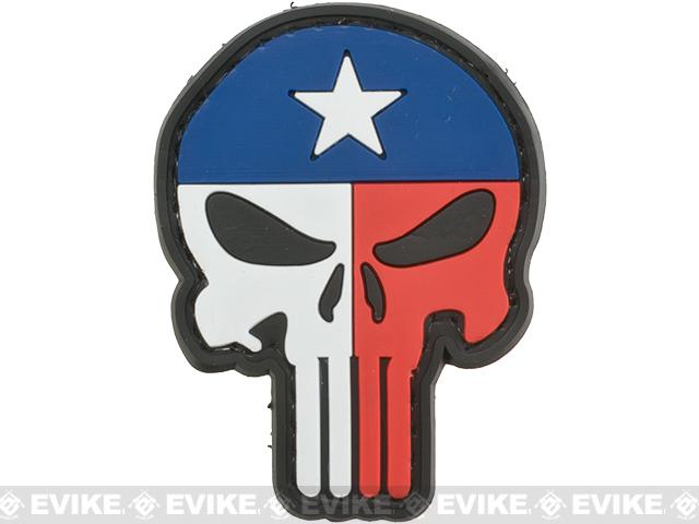 Texas Flag Skull PVC Morale Patch