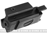 Pistol Rail Mount Accessory Base with Integral Laser Aiming Device