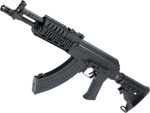 LCT Stamped Steel TX-M Tactical AK AEG Rifle w/ Quad RIS System