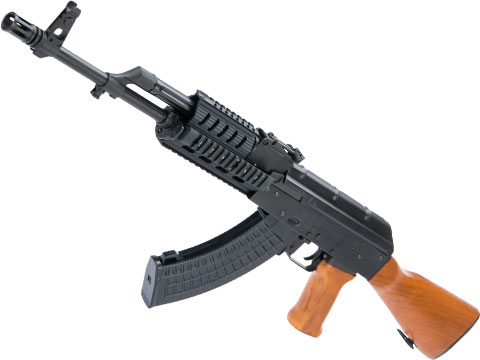 LCT Stamped Steel TX-63 Tactical AK Airsoft AEG Rifle w/ Quad Rail & Real Wood Furniture