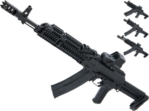 LCT Stamped Steel ZK Series AK Airsoft AEG Rifle w/ Side-Folding Z Series Stock and Handguard