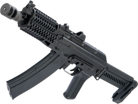 LCT Stamped Steel ZK Series AK Airsoft AEG Rifle w/ Side-Folding Z Series Stock and Handguard (Model: ZKS-74UN)