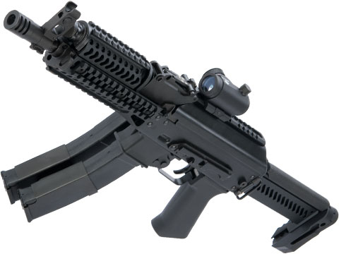 LCT Stamped Steel ZK Series AK Airsoft AEG Rifle w/ Side-Folding Z Series Stock and Handguard (Model: ZP-19-01 Vityaz)