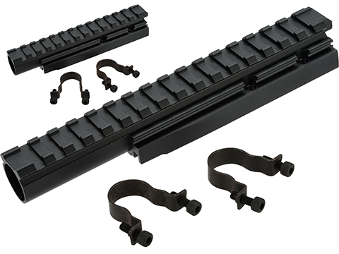 LCT CNC Aluminum Railed Gas Tube for AK Series AEG Rifles
