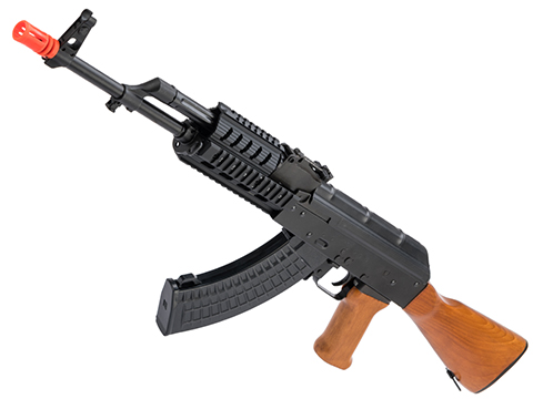 LCT Stamped Steel TX-63 AK EBB AEG Rifle w/ Quad Rail & Real Wood Furniture