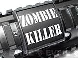 Custom Gun Rails Small Laser Engraved Aluminum Rail Cover (Type: Zombie Killer / 20mm Picatinny Rail Version)