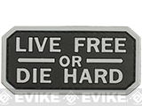 Live Free or Die Hard PVC Morale Patch - SWAT