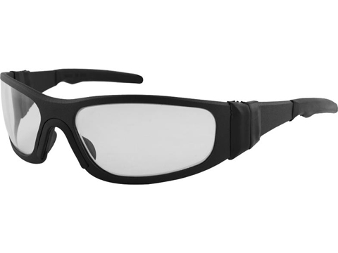 Liquid Eyewear T-Flex CNC Machined One Piece Aluminum Sunglasses (Color: Matte Black w/ Clear UV)