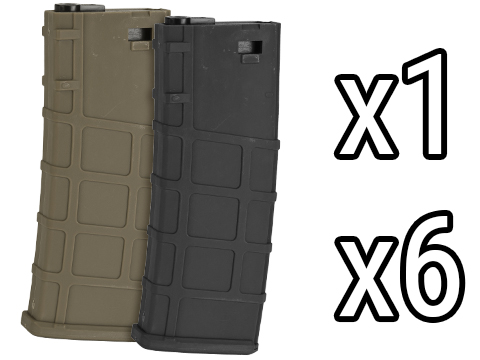 Lonex 30rd Real-Cap Polymer Magazine for M4 M16 AEG Rifles (Color: Black / Single)