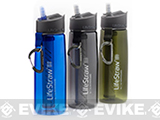 LifeStraw Go 2-Stage Personal Water Bottle with Integrated LifeStraw Filtration (Color: Green)