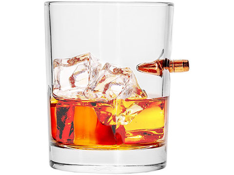 LuckyShot Handmade Real Bullet Drink Glass (Model: .308 Whiskey Glass)