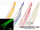 Jigging Master Rubber Squid Jig Hook Skirt Pack of 5 (Size: 12cm White Glow)