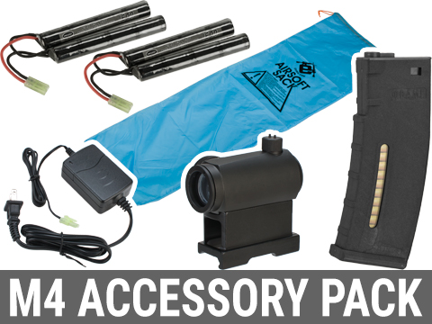 Matrix Go Airsoft Base Essentials AEG Starter Package (Series: M4 / 9.6 Butterfly)