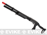 G&P M870 P.T.E. High Power Airsoft Shotgun - Terminator Steel Folding Stock & Long Barrel