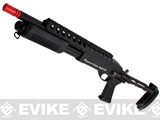 z G&P M870 P.T.E. High Power Airsoft Shotgun - Evil Beast Custom with CQC Barrel